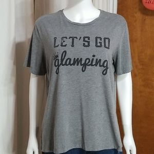 """Thread Tank """" Lets Go Glamping """" Gray XLARGE"""